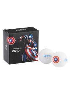 Bóng golf Volvik Marvel Capital America Pack